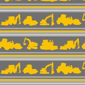 Boys toys grey yellow stripe