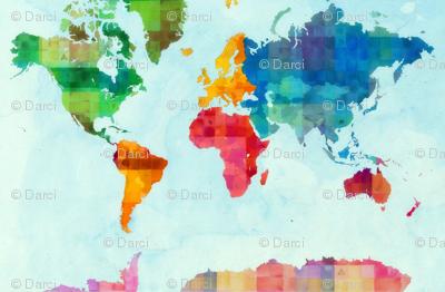 World Map 1 Yard