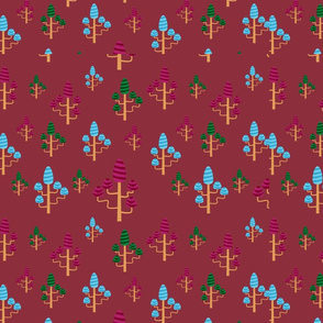 Fairy Trees Pattern
