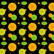 Pattern with lemons and oranges