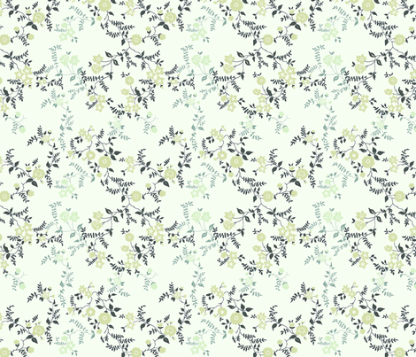 Mint Floral fabric by siskonpeti on Spoonflower - custom fabric