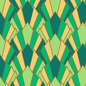 (NOW LARGER) Serene deco diamond fans (limited palette) by Su_G