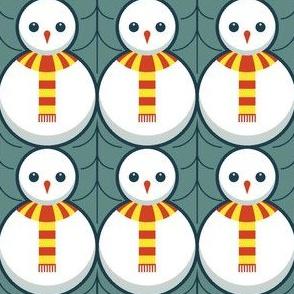 snowman + holly