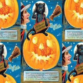 Halloween Postcard Hallowe'en Precautions