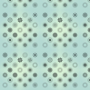 Gear Floral Green Gradient