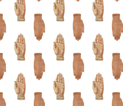 Palmistry fabric by mandamacabre on Spoonflower - custom fabric