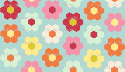flower garden quilt cheater - color palette for contest