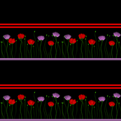 Floral border on a black background