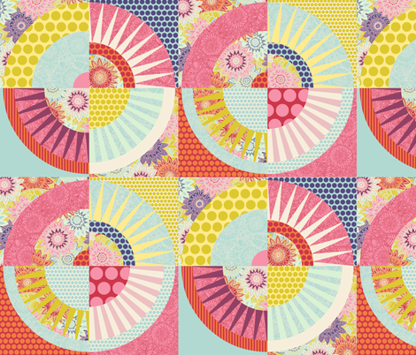 geo springtime fabric by scrummy on Spoonflower - custom fabric