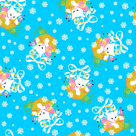 Knit'n Kittens fabric by moirarae on Spoonflower - custom fabric