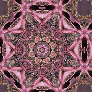 (f53-2C)Pink Paisley Fairy Flowers