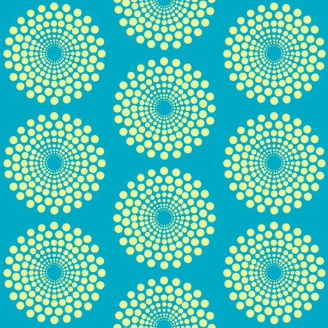 mod caribbean circle fabric by keweenawchris on Spoonflower - custom fabric