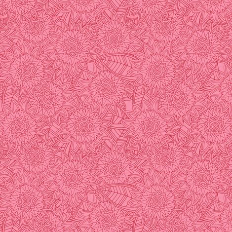 springtime pink mini fleur fabric by scrummy on Spoonflower - custom fabric