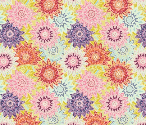 springtime flowers fabric by scrummy on Spoonflower - custom fabric