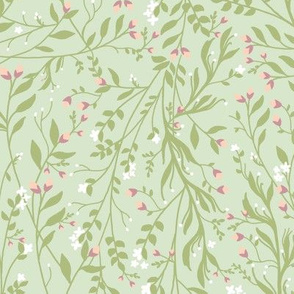 Regency Floral in Green Romance
