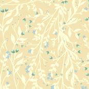Regency Floral in Cream Blue Green