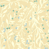Regency Floral in Delicate Cream Blue Green