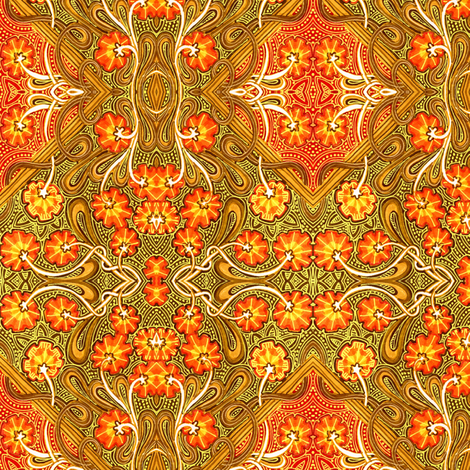 Autumn Flower Field Batik fabric by edsel2084 on Spoonflower - custom fabric