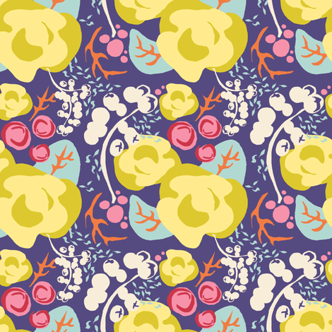 Early Spring 4 in. Posy fabric by joybucket on Spoonflower - custom fabric