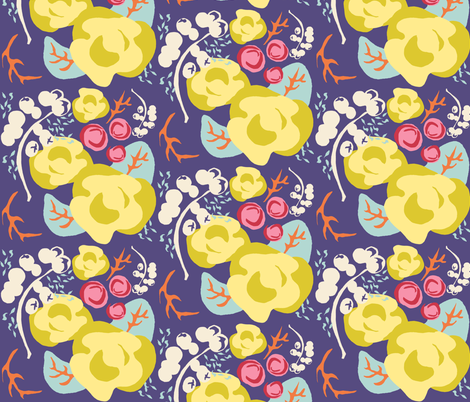 Rosy Poesy 6IN repeat fabric by joybucket on Spoonflower - custom fabric