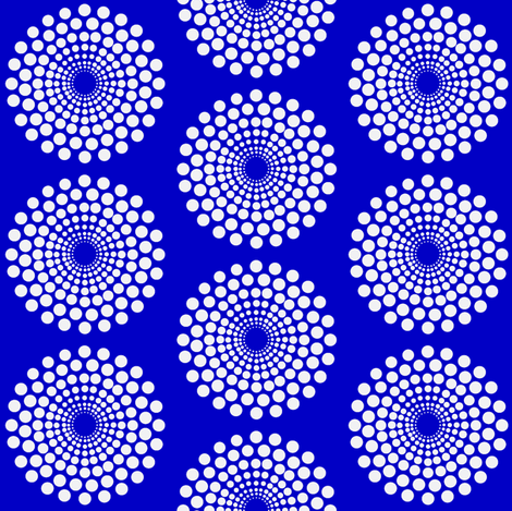 mod blue circle fabric by keweenawchris on Spoonflower - custom fabric