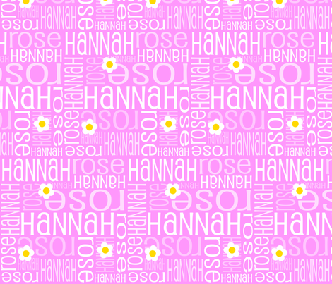 Personalised Name Fabric - Daisies Pink 7