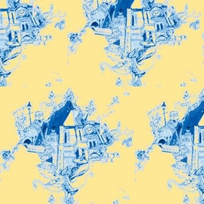 NOLA Toile Blue & Yellow