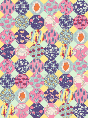Octagon Spring Quilt
