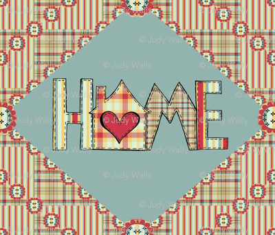 Cozy Home Quilt Panel