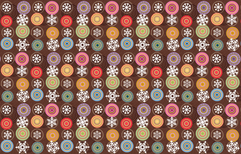 gingerbread house fabric by keweenawchris on Spoonflower - custom fabric