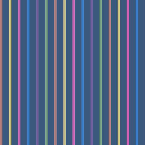 swizzle straws - rainbow on navy fabric by weavingmajor on Spoonflower - custom fabric