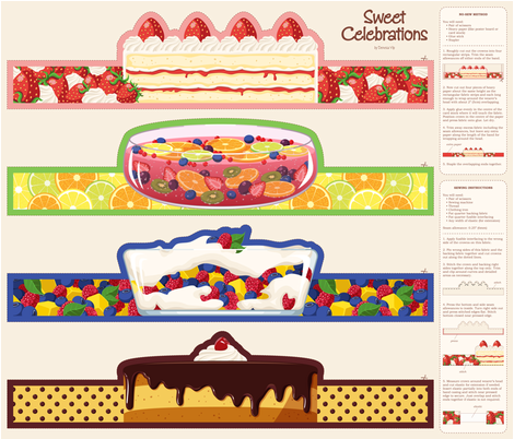 Sweet Celebrations fabric by daidailand on Spoonflower - custom fabric