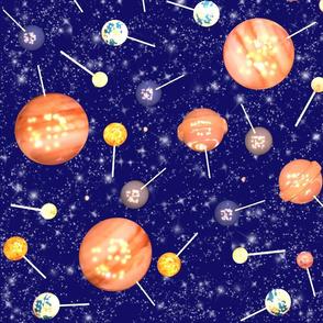 Lollipop Galaxy - Milky Blue