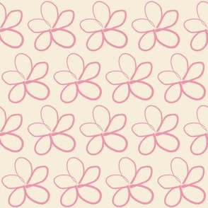 Spring Floral Pink on White
