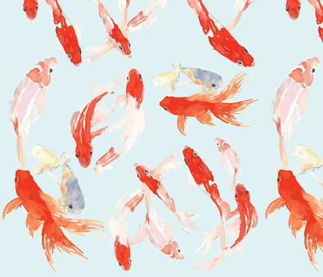 Koi fabric by britterarmour on Spoonflower - custom fabric