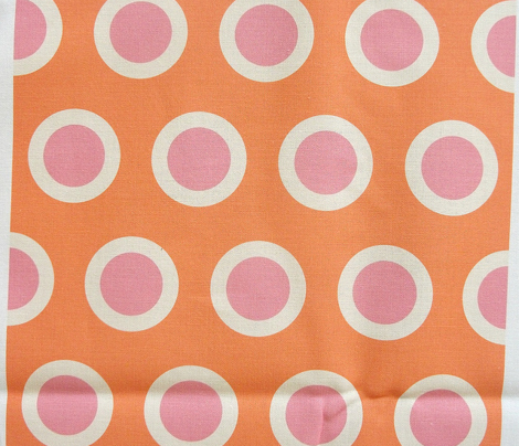 Spring Floral Orange Polka Dot