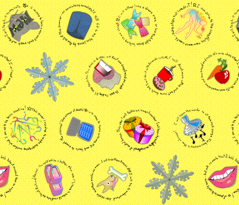 resolutions butter lemon fabric by glimmericks on Spoonflower - custom fabric