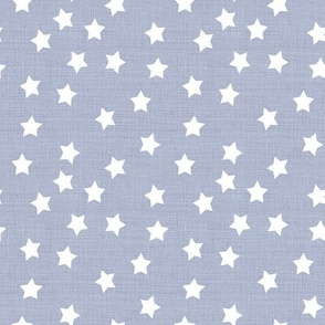 Stars in Chambray Grey Linen