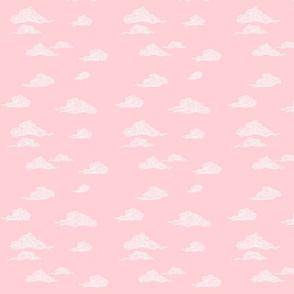 Oriental Clouds in Pink Sunset Skies