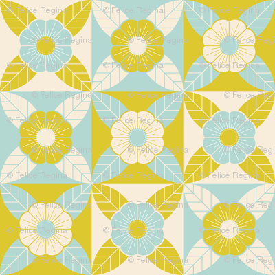 Geometric Floral Cheater