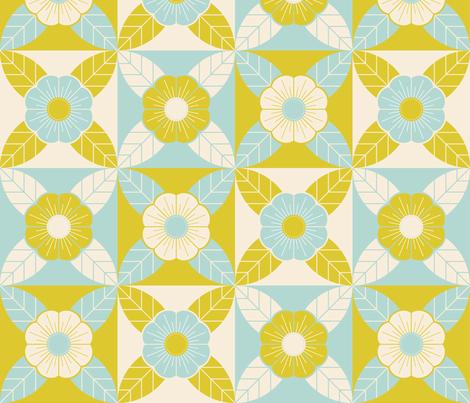 Geometric Floral Cheater fabric by lunasol on Spoonflower - custom fabric