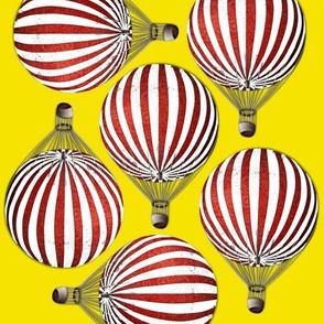 Hot Air Balloons Yellow