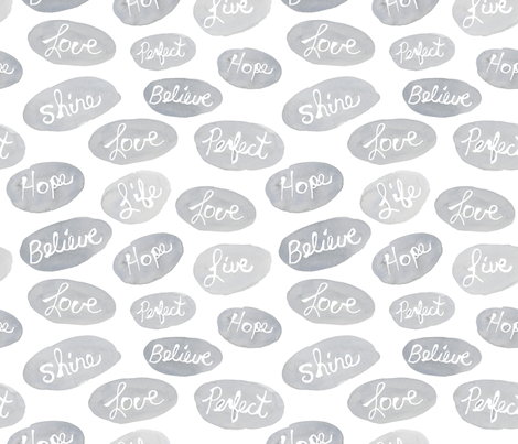 words fabric by kim_johnson_studios on Spoonflower - custom fabric