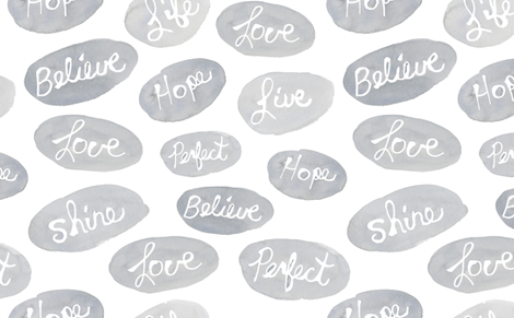 words to live by fabric by kimjohnsonstudios on Spoonflower - custom fabric