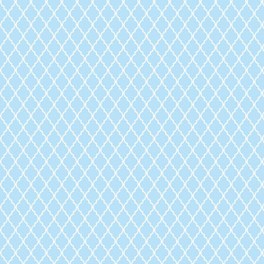 Placid Blue Quatrefoil Moroccan Trellis