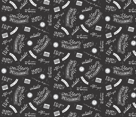 newyearsresolutions fabric by abergen on Spoonflower - custom fabric