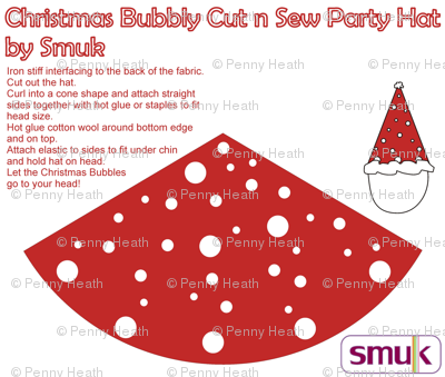 Christmas Bubbles Cut n Sew Party Hat