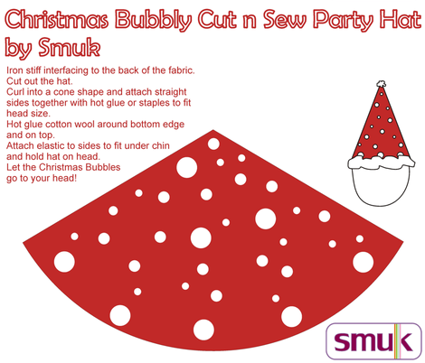 Christmas Bubbles Cut n Sew Party Hat fabric by smuk on Spoonflower - custom fabric