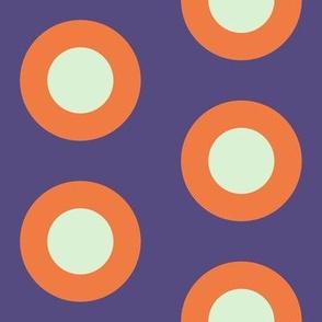 Spring Floral Mandarin Encrusted Mod Dots