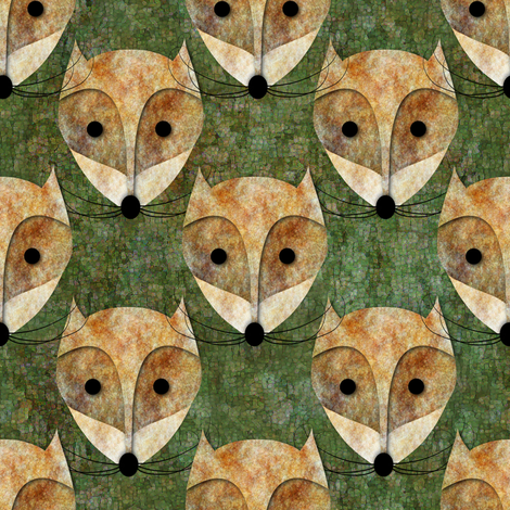 Foxy face fabric by vo_aka_virginiao on Spoonflower - custom fabric